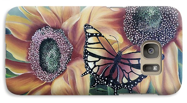 Galaxy Case featuring the painting Butterfly Series 5 by Dianna Lewis