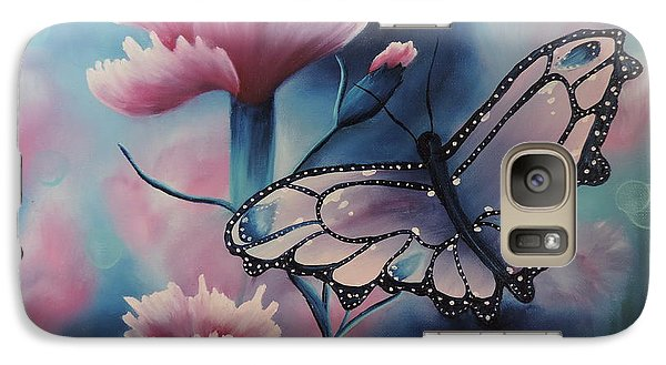 Galaxy Case featuring the painting Butterfly Series 6 by Dianna Lewis