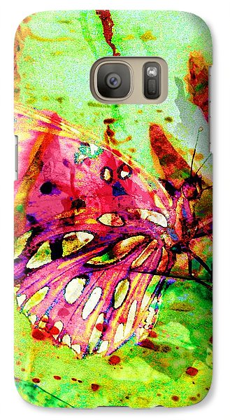 Galaxy Case featuring the painting Butterfly That Was A Muscian by David Mckinney