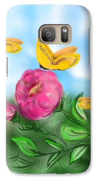 Galaxy Case featuring the digital art Butterfly Triplets by Christine Fournier