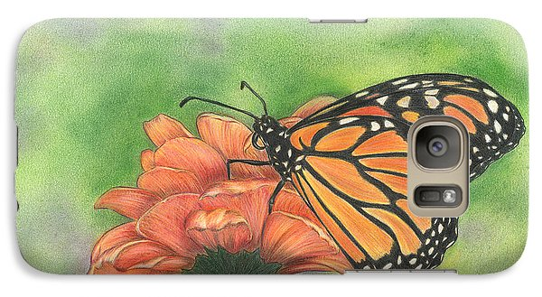 Galaxy Case featuring the drawing Butterfly by Troy Levesque