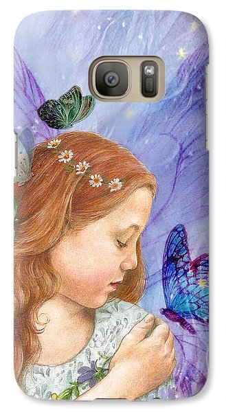 Galaxy Case featuring the painting Butterfly Twinkling Fairy by Judith Cheng