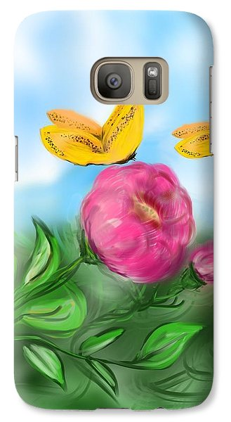 Galaxy Case featuring the digital art Butterfly Twins by Christine Fournier