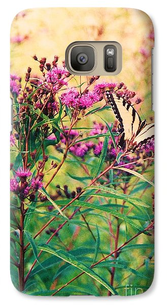 Galaxy Case featuring the painting Butterfly Wildflower by Eric  Schiabor