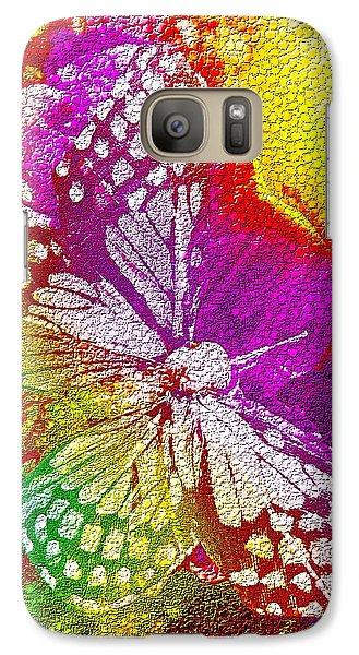 Galaxy Case featuring the digital art Butterfly World 2 by Nico Bielow