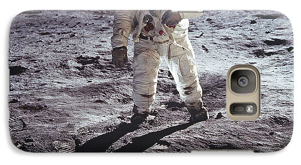 Galaxy Case featuring the photograph Buzz Aldrin On The Moon by Rod Jones