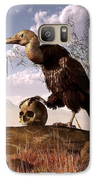 Buzzard With A Skull Galaxy S7 Case by Daniel Eskridge