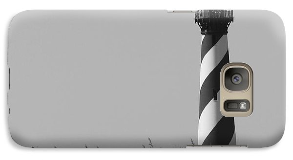 Galaxy Case featuring the photograph Bw Of Hatteras Lighthouse by Laurinda Bowling