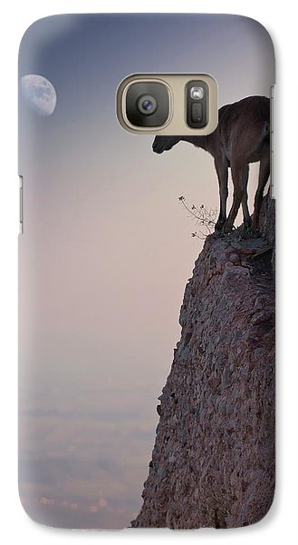Goat Galaxy S7 Case - By A Bouquet Of Flowers by Renato J. L?pez