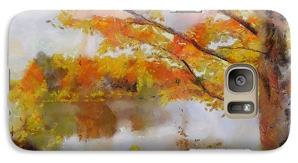 Galaxy Case featuring the painting By The Lake by Wayne Pascall