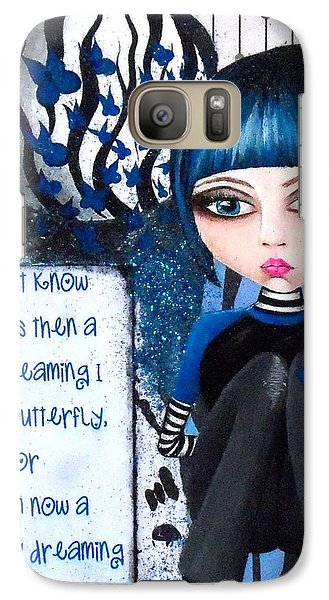 Galaxy Case featuring the painting By The Moonlight by Oddball Art Co by Lizzy Love