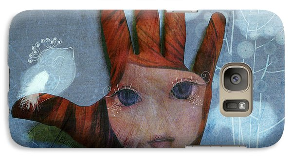 Galaxy Case featuring the digital art By The Pricking Of My Thumb by Barbara Orenya