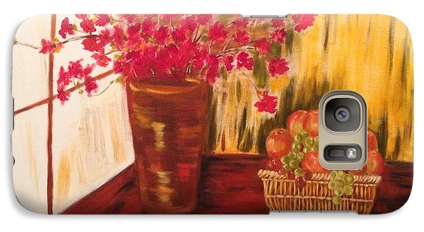 Galaxy Case featuring the painting By The Window by Brindha Naveen