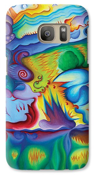 Galaxy Case featuring the painting Byron Bird Orchestration by Tiffany Davis-Rustam
