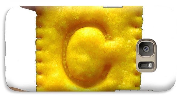 Galaxy Case featuring the photograph C For Cheese Cracker by Pete Trenholm