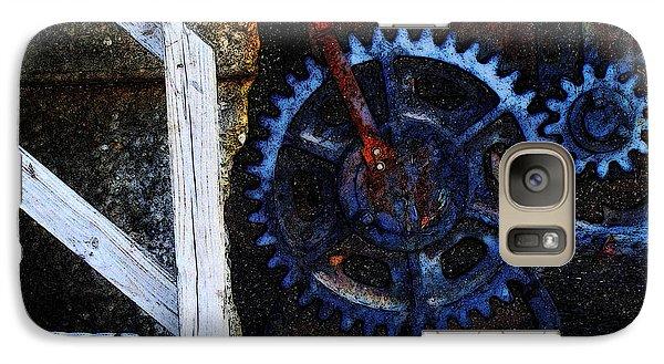 Galaxy Case featuring the digital art C N W Railroad Bridge Gears by David Blank