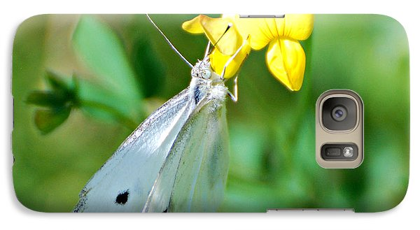 Galaxy Case featuring the photograph Cabbage White Butterfly by Lila Fisher-Wenzel
