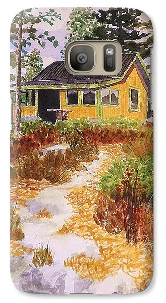Galaxy Case featuring the painting Cabin In Norway by Suzanne McKay