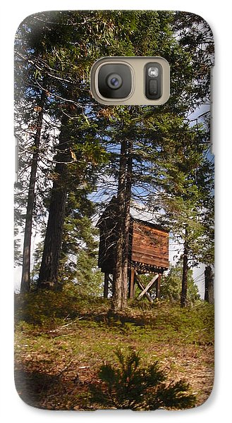 Galaxy Case featuring the photograph Cabin In The Woods by Kristen R Kennedy