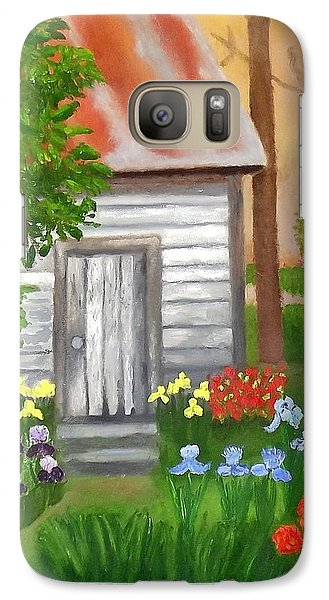 Galaxy Case featuring the painting Cabin In The Woods by Margaret Harmon