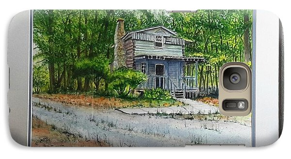 Galaxy Case featuring the painting Cabin In The Woods by Richard Benson