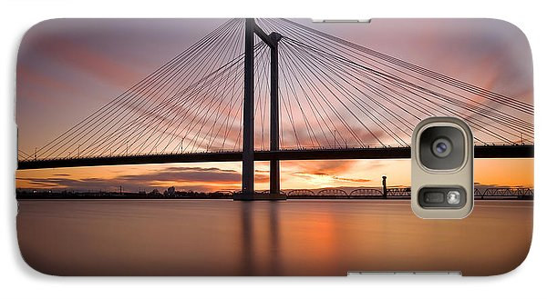 Galaxy Case featuring the photograph Cable Bridge by Ronda Kimbrow