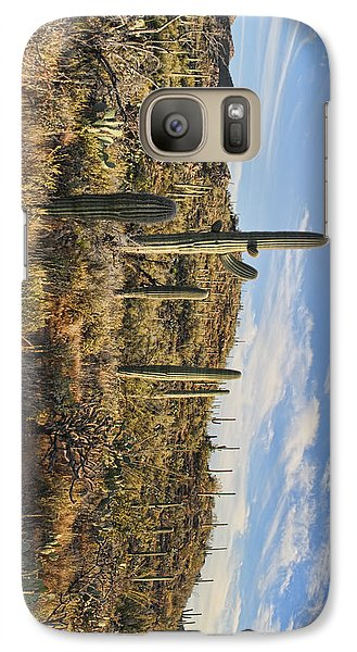 Galaxy Case featuring the photograph Cacti In Saguaro Natl Park - Phone Case by Gregory Scott