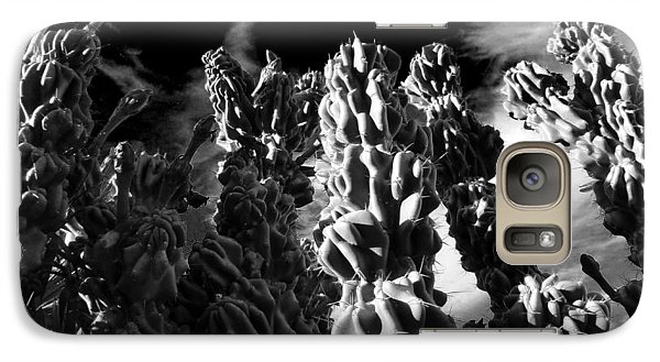 Galaxy Case featuring the photograph Cactus 1 Bw by Mariusz Kula