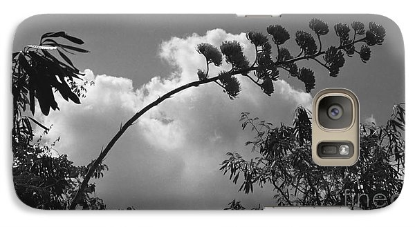 Galaxy Case featuring the photograph Cactus And Cloud by Kenny Glotfelty
