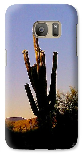 Galaxy Case featuring the photograph Cactus At Sundown by Fred Wilson