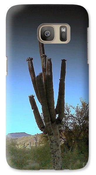Galaxy Case featuring the photograph Cactus At Twilight by Fred Wilson