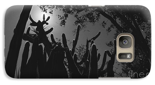 Galaxy Case featuring the photograph Cactus Family by Kenny Glotfelty