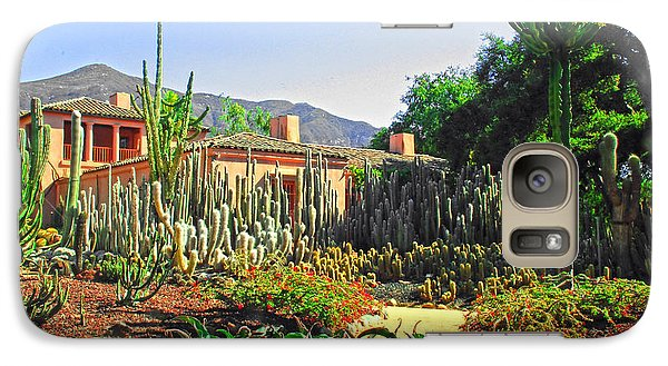 Galaxy Case featuring the photograph Cactus House by Joseph Hollingsworth