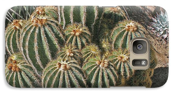 Galaxy Case featuring the photograph Cactus In The Garden by Tom Janca