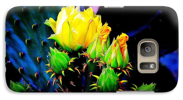 Galaxy Case featuring the photograph Cactus Rose by Antonia Citrino