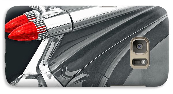 Galaxy Case featuring the photograph Caddy Classic Black And White by Cheryl Del Toro