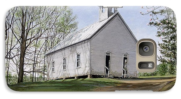 Galaxy Case featuring the painting Cades Cove Methodist Church by Bob  George