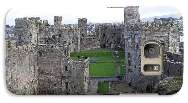 Galaxy Case featuring the photograph Caernarfon Castle by Christopher Rowlands
