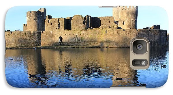Galaxy Case featuring the photograph Caerphilly Castle by Vicki Spindler