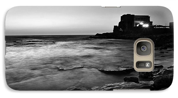 Galaxy Case featuring the photograph Caesarea  Bw by Meir Ezrachi