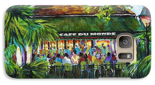 Galaxy Case featuring the painting Cafe Du Monde Morning by Dianne Parks