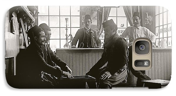 Galaxy Case featuring the photograph Cafe Game 1894 by Martin Konopacki Restoration