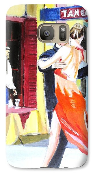Galaxy Case featuring the painting Cafe Tango by Judy Kay