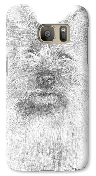 Galaxy Case featuring the drawing Cairn Terrier by Jim Hubbard