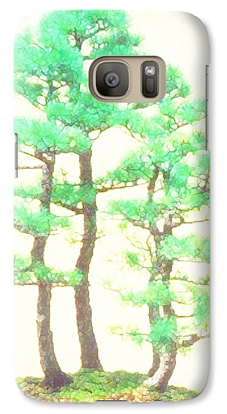 Galaxy Case featuring the painting Caitlin Elm Bonsai Tree by Marian Cates