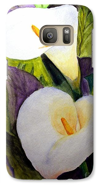 Galaxy Case featuring the painting Cala Lily by Carol Grimes