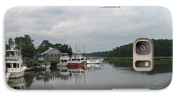Galaxy Case featuring the painting Calabash Dockside - Boats At Marina by Shelia Kempf