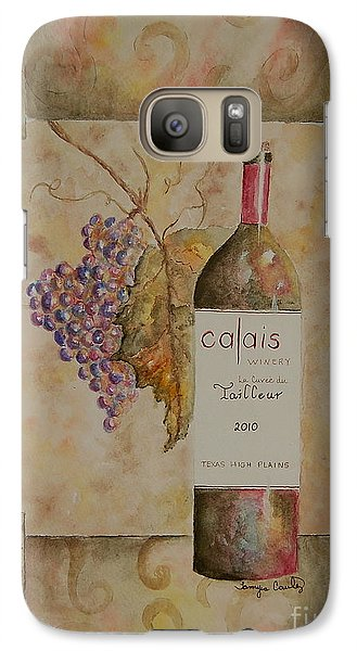 Galaxy Case featuring the painting Calais Vineyard by Tamyra Crossley