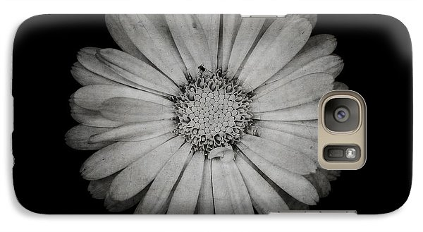Galaxy Case featuring the photograph Calendula Flower - Textured Version by Laura Melis