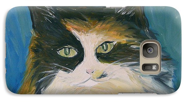 Galaxy Case featuring the painting Cali by Victoria Lakes